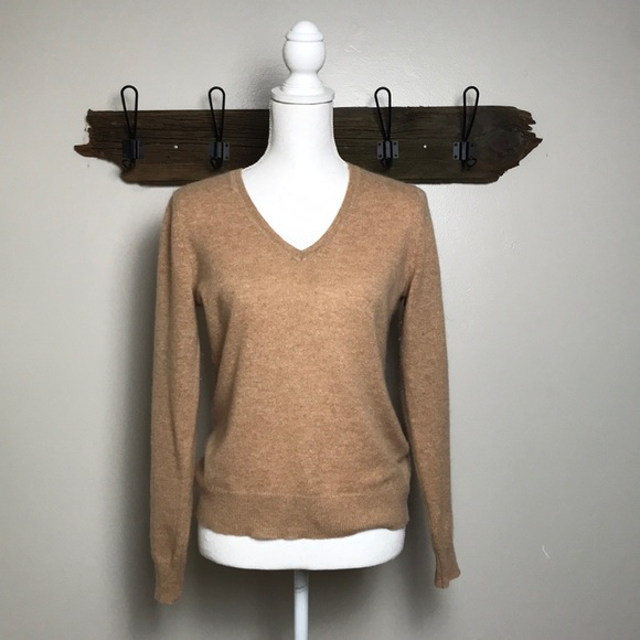 Lord & Taylor Sweaters - Cashmere Sweater V Neck Lord & Taylor Camel